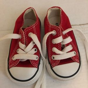 Converse Chuck Taylors, red size 3